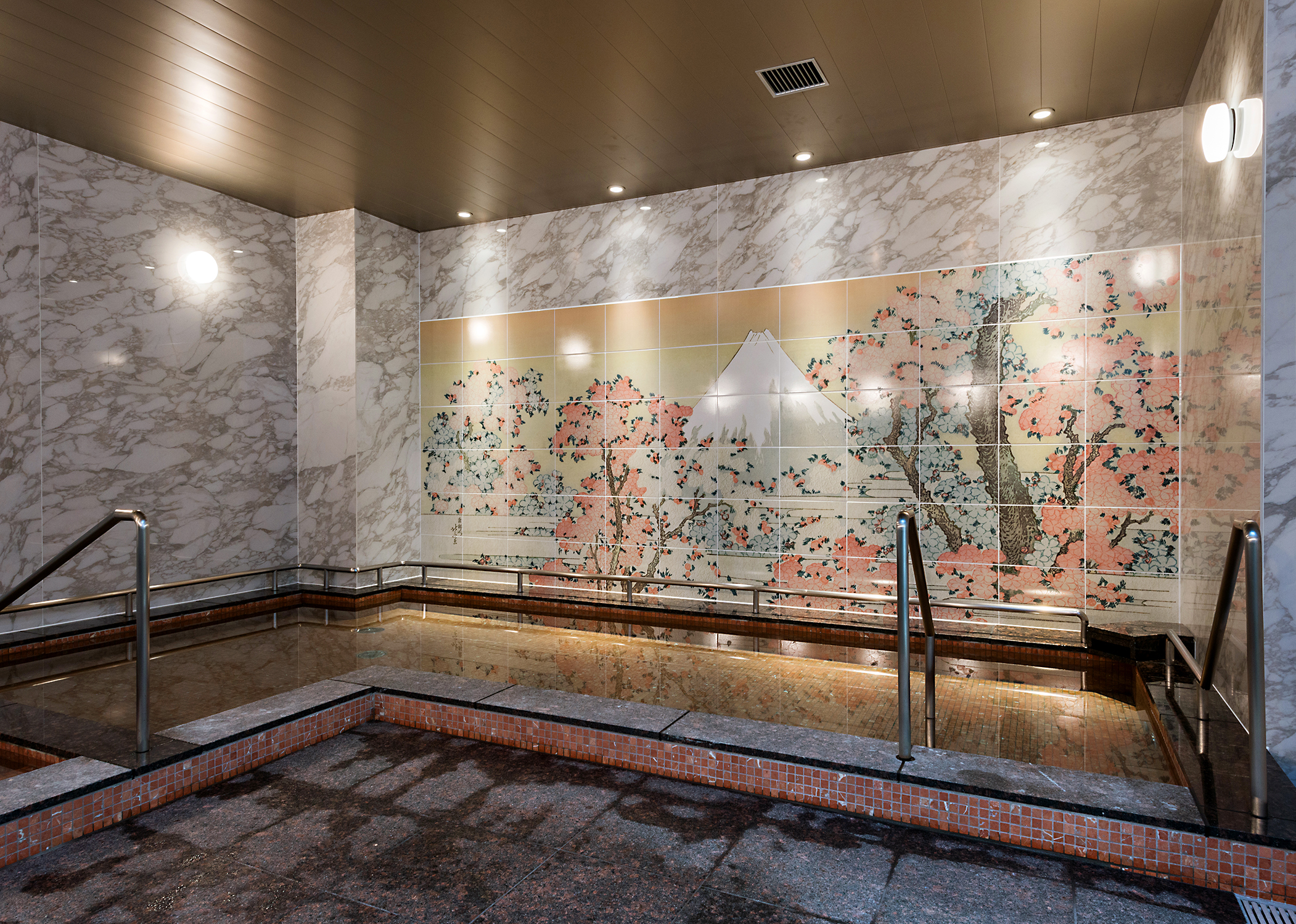 施設用浴室大型壁面